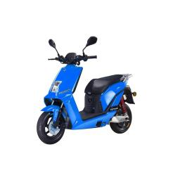 Lifan E3 LF1200DT Electric Moped Scooter Blue Front Left