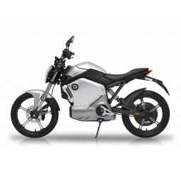 Super Soco TS1200R Electric Motorcycle Silver Left