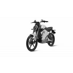 Super Soco TS1200R Electric Motorcycle Silver Front Left