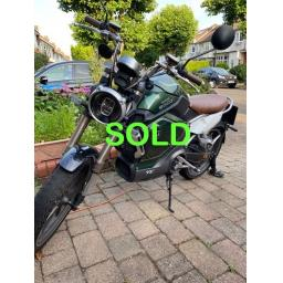 Super Soco TC Electric Moped 1500w Pre-owned Sold