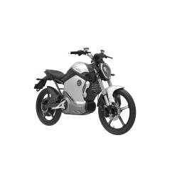 Super Soco TS1200R Electric Motorcycle Silver Front Right