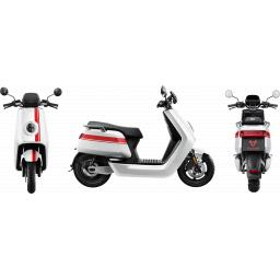 Niu NQi Pro Electric Moped White Red Views