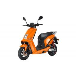 Lifan E3 LF1200DT Electric Moped Scooter Orange Front Left