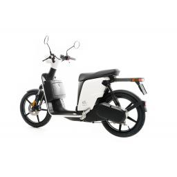 Askoll ES2 Electric Moped White Rear Left