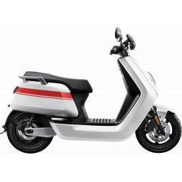 Niu NGT Electric Moped White Red Side View