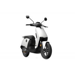 Super Soco CUx Electric Moped White Front Right