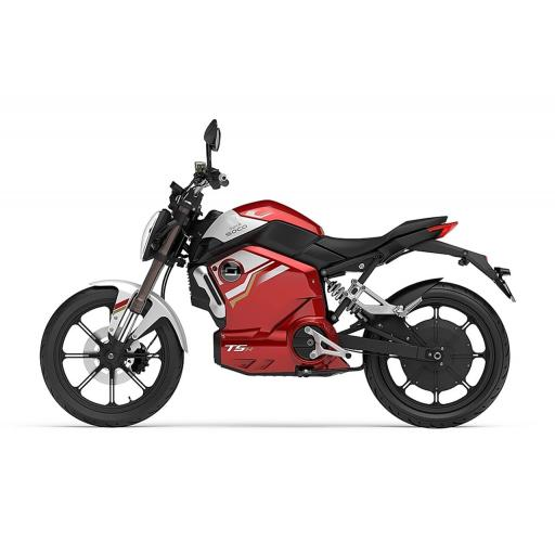 Super Soco TSx Electric Motorcycle Red Left