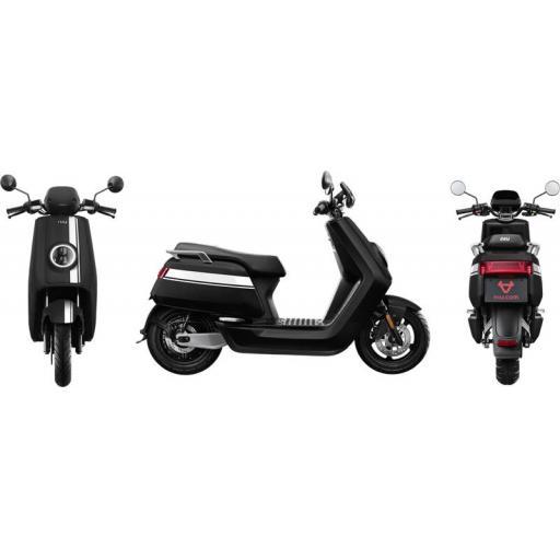 Niu NQi Pro Electric Moped Black White Views