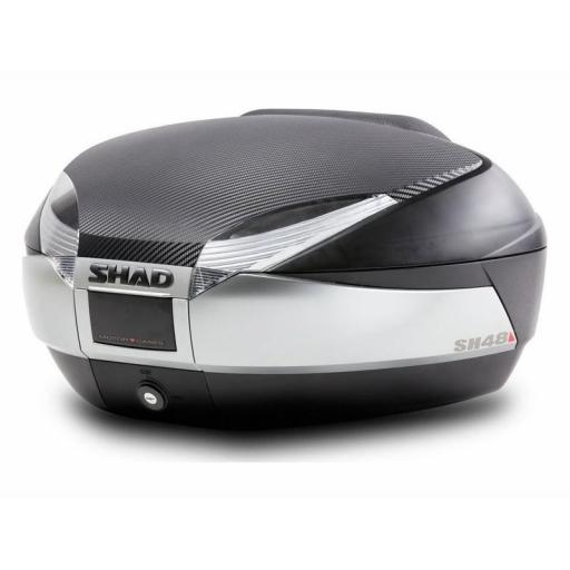 SH48 Top Box Black / Titanium inc Backrest