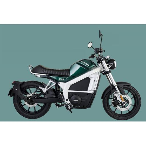 Horwin CR6 Electric Motorcycle Green RHS