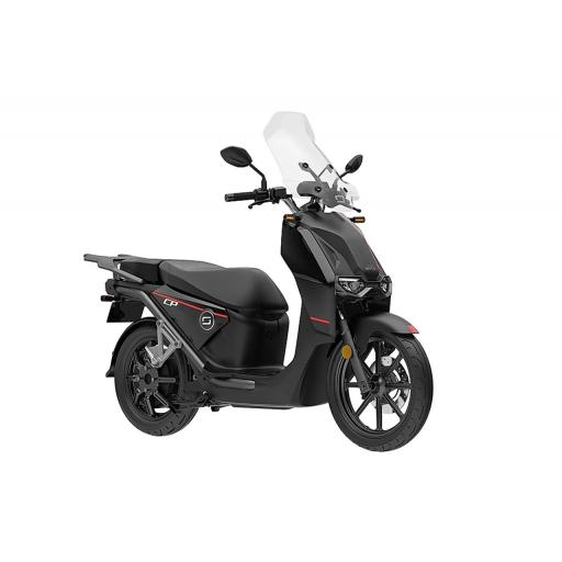 Super Soco CPx Electric Moped Black Front Right