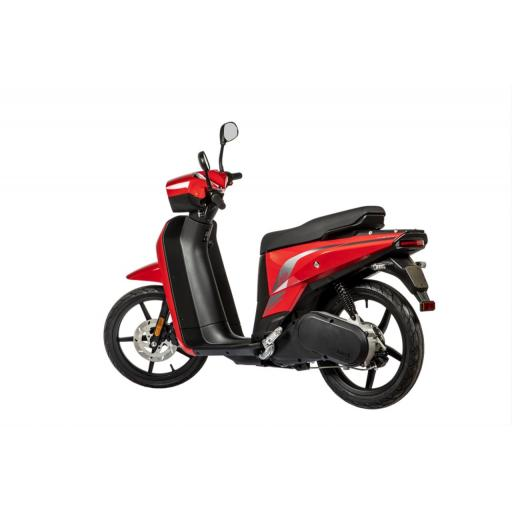 Askoll NGS3 Electric Moped Red Rear Left