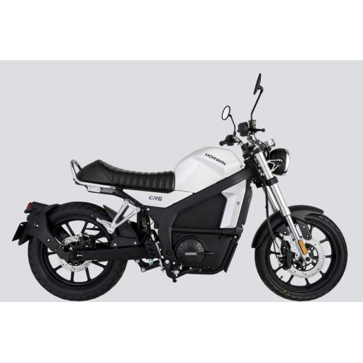 Horwin CR6 Electric Motorcycle White RHS
