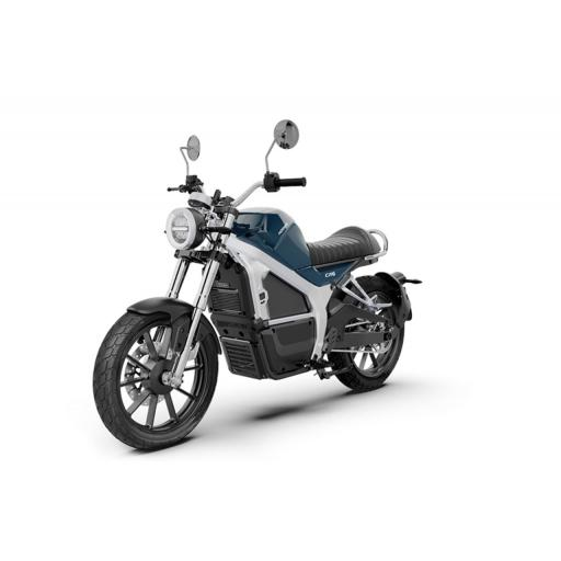 Horwin CR6 Electric Motorcycle Blue Front