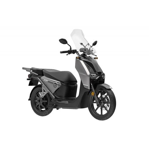 Super Soco CPx Electric Moped Silver Front Right