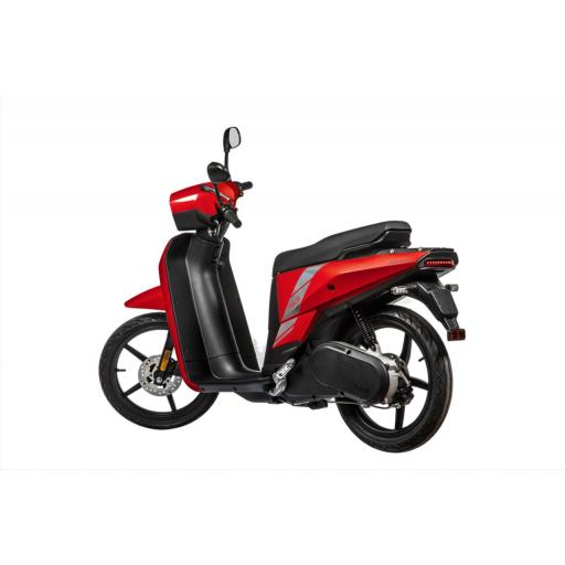 Askoll NGS2 Electric Moped Red Rear Left