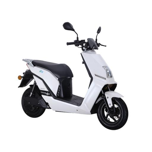 Lifan E3 LF1200DT Electric Moped Scooter White Front Right
