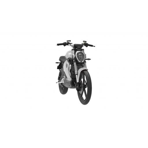 Super Soco TS1200R Electric Motorcycle Silver Front