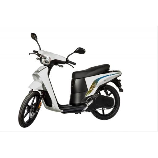 Askoll NGS3 Electric Moped White Front Left