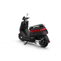 Niu NQi Pro Electric Moped Black Red Rear Left View.jpg