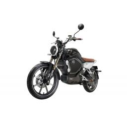 Super Soco TC Electric Motorcycle Black Front Left