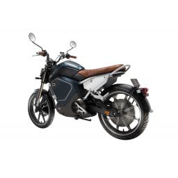 Super Soco TC Electric Motorcycle Blue Rear Left