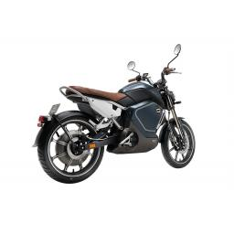 Super Soco TC Electric Motorcycle Blue Rear Right
