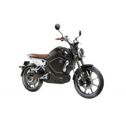 Super Soco TC Electric Motorcycle Black Front Right