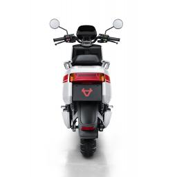 Niu NQi Pro Electric Moped White Red Rear View.jpg