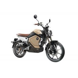 Super Soco TC Electric Motorcycle Yellow Front Right