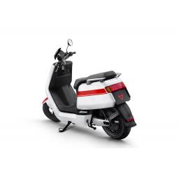 Niu NQi Pro Electric Moped White Red Rear Left View.jpg