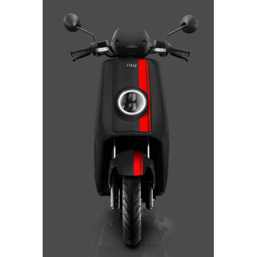 Niu NQi GTS Pro Electric Moped Black Red Front
