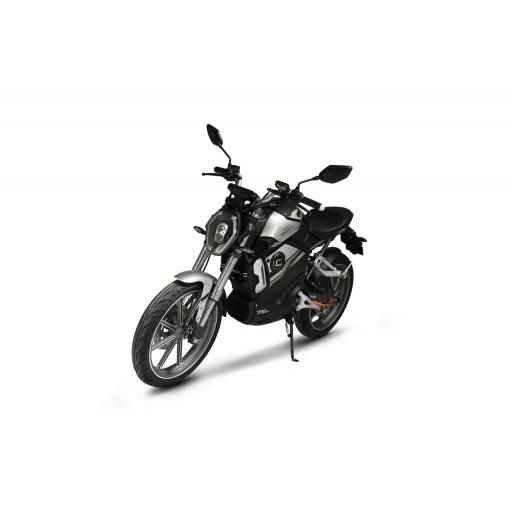 Super Soco TSx Electric MotorCycle Black Front Left