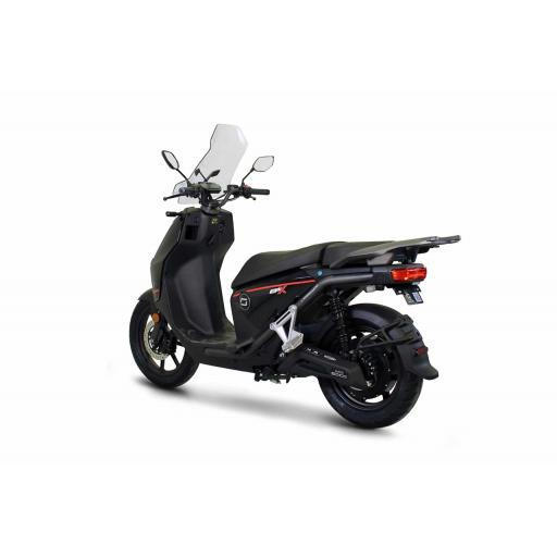 Super Soco CPX Electric Moped Black Rear Left