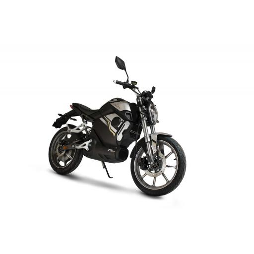 Super Soco TSx Electric MotorCycle Black Front Right