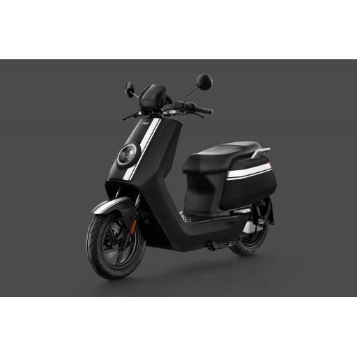 Niu NQi GTS Pro Electric Moped Black White Front Left