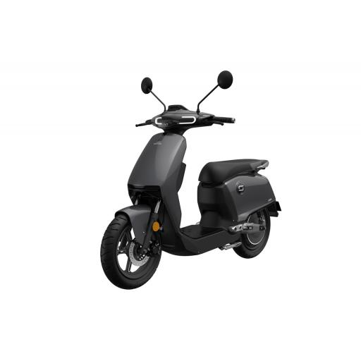 Super Soco CUx Electric Moped Grey Front Left