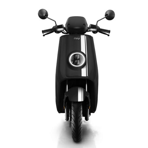 Niu NQiGTS Sport Electric Moped Black White Front