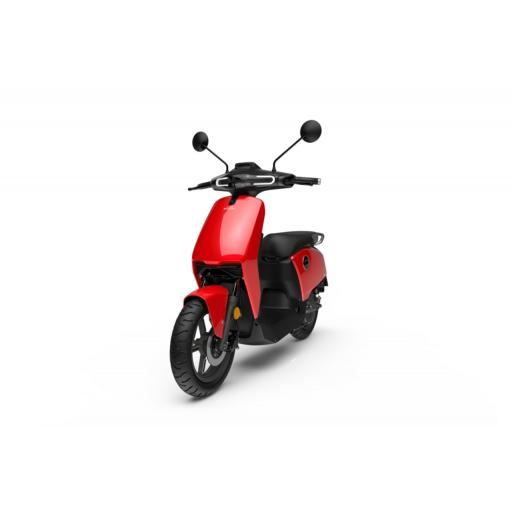 Super Soco CUx Electric Moped Red Front Left