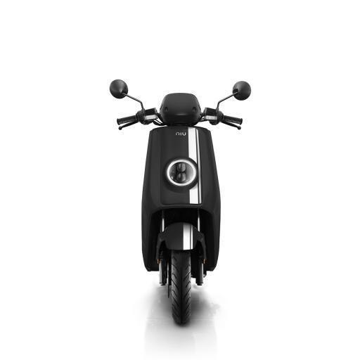 Niu NQi Pro Electric Moped Black White Front.jpg