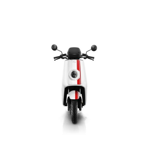Niu NQi Pro Electric Moped White Red Front.jpg