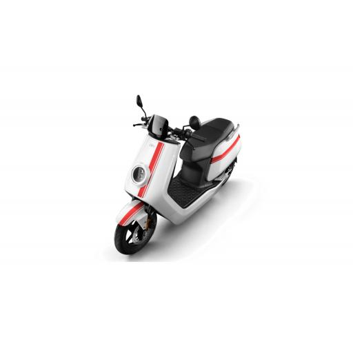 Niu NQiGTS Pro Electric Moped White Red Above View
