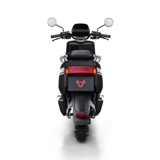 Niu NQi Pro Electric Moped Black White Rear View.jpg