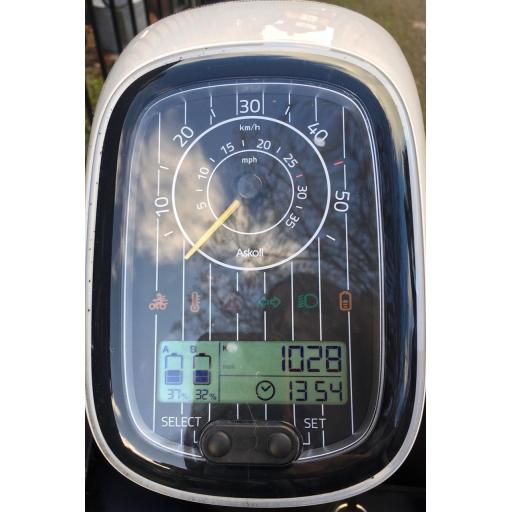 Askoll ES2 Electric Moped White PreOwned Dashboard 1019