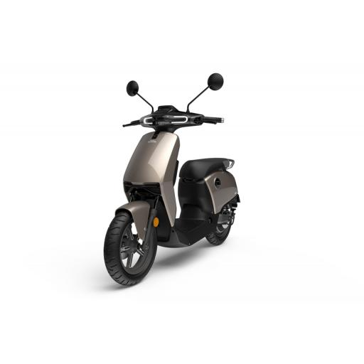 Super Soco CUx Electric Moped Silver Front Left