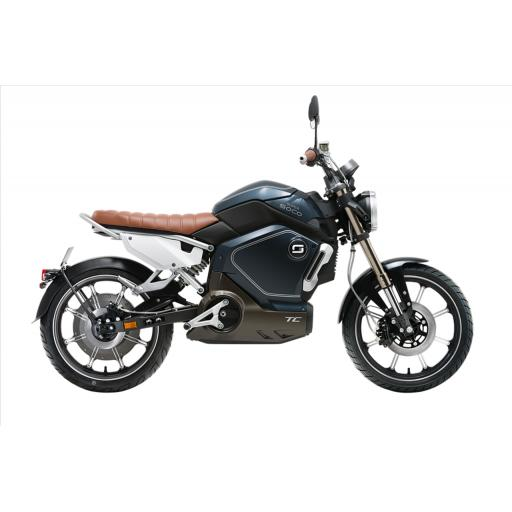 Super Soco TC Electric Motorcycle Blue Right