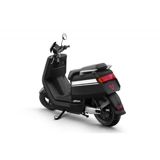 Niu NQi Pro Electric Moped Black White Rear Left View.jpg