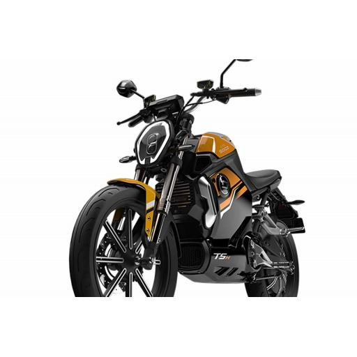 Super Soco TSx Electric MotorCycle Orange Front Left Detail