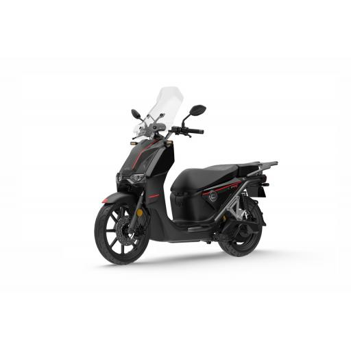 Super Soco CPX Electric Moped Black Front Left