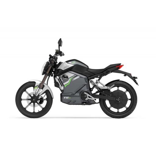 Super Soco TSx Electric MotorCycle Grey Left Side